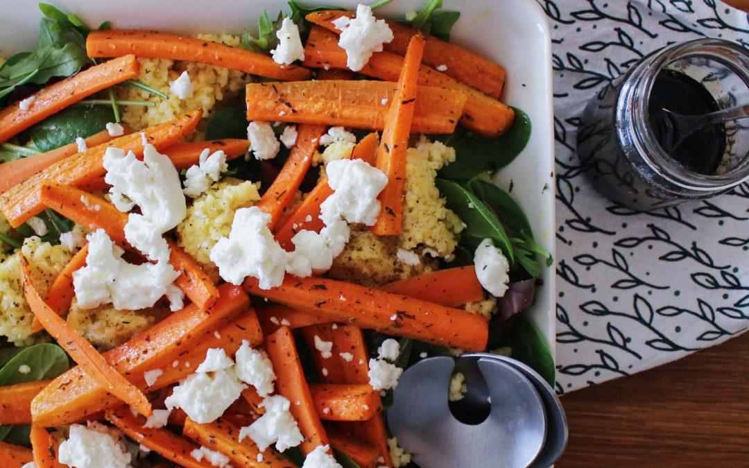 FODMAP resepti ruokaisa hirssi-porkkanasalaatti
